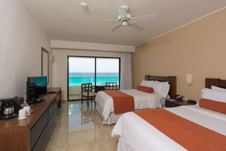 Habitación deluxe vista al mar hotel flamingo cancun resort cancún